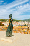 Tossa de Mar. Monument Ava Gardner Royalty Free Stock Photography