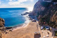 Tossa De Mar na Costa Brava, Catalonia, Hiszpania Obrazy Stock