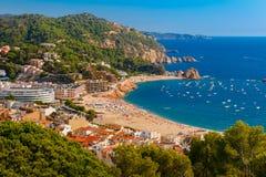 Tossa De Mar na Costa Brava, Catalunya, Hiszpania obrazy royalty free