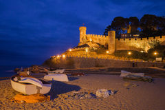 Tossa de Mar at Night in Spain Royalty Free Stock Image