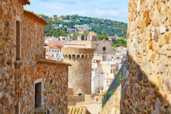 Tossa de Mar old town Vila Vella in Costa Brava Stock Image