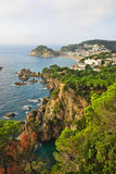 Tossa DE Mar op Costa Brava van Spanje Stock Afbeelding