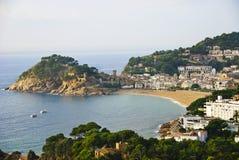 Tossa DE Mar op Costa Brava van Spanje stock foto's