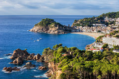 Tossa de Mar Sea Town on Costa Brava in Spain Stock Photos