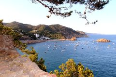 Tossa de Mar sea view Royalty Free Stock Image