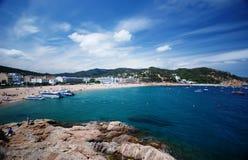 Tossa de Mar, Spain. Beautiful coastline of Tossa de Mar in Spain Catalonia Royalty Free Stock Image
