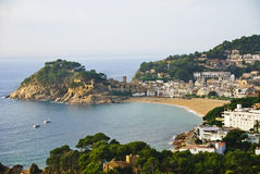 Tossa de Mar on Spain's Costa Brava stock photos