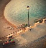 Tossa de Mar, Spain, view of Gran Platja beach and Badia de Toss Royalty Free Stock Image