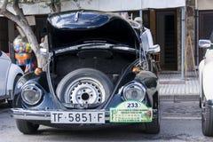 Tossa DE Mar, Spanje 17 september, 2016: Uitstekende Volkswagen-kever in het 23ste Volkswagen-schrijvers uit de klassieke oudheid Stock Afbeeldingen
