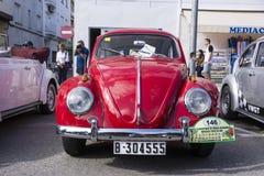 Tossa DE Mar, Spanje 17 september, 2016: Uitstekende Volkswagen-kever in het 23ste Volkswagen-schrijvers uit de klassieke oudheid Stock Fotografie