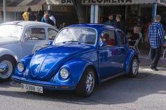 Tossa DE Mar, Spanje 17 september, 2016: Uitstekende Volkswagen-kever in het 23ste Volkswagen-schrijvers uit de klassieke oudheid Royalty-vrije Stock Foto