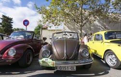 Tossa DE Mar, Spanje 17 september, 2016: Uitstekende Volkswagen-kever in het 23ste Volkswagen-schrijvers uit de klassieke oudheid Royalty-vrije Stock Foto's
