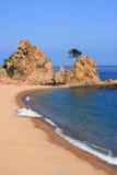 Tossa DE Mar strand Stock Afbeeldingen