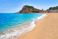 Tossa de Mar-Strand in Costa Brava von Katalonien Lizenzfreie Stockfotos