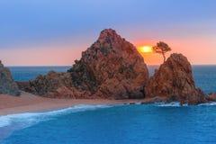 Tossa de Mar su Costa Brava, Catalunya, Spagna Immagine Stock Libera da Diritti