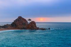 Tossa de Mar su Costa Brava, Catalunya, Spagna Immagini Stock Libere da Diritti