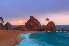 Tossa de Mar su Costa Brava, Catalunya, Spagna Fotografie Stock