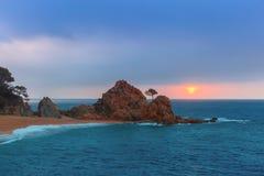 Tossa de Mar su Costa Brava, Catalunya, Spagna Fotografia Stock Libera da Diritti
