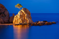 Tossa de Mar su Costa Brava, Catalunya, Spagna Fotografia Stock