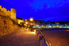 Tossa de Mar sunset in Costa Brava of Catalonia Royalty Free Stock Photography