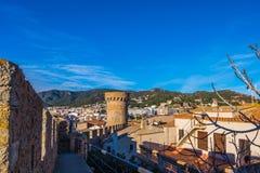Tossa de Mar sur Costa Brava, Catalogne, Espagne Images stock