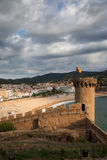 Tossa de Mar Town and Fortification Stock Photography