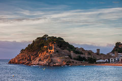 Tossa de Mar Town at Sunset Royalty Free Stock Images