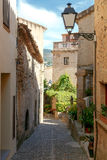 Tossa de Mar. The traditional city street. Royalty Free Stock Images