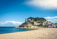 Tossa de Mar village and Castle. Royalty Free Stock Images