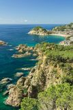 Tossa de Mar village and Castle. Royalty Free Stock Photo
