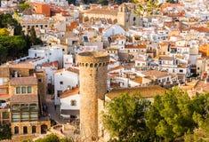 Tossa de Mar village, Costa Brava, Catalonia Stock Photo