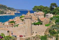 Tossa-de-Marcha, costa Brava, España imagen de archivo