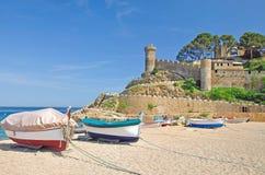 Tossa-De-Mars, côte Brava, Espagne Image libre de droits