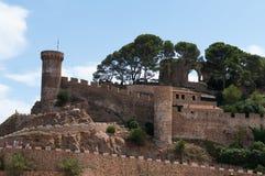 Tossa de mars, côte Brava, Espagne Images libres de droits