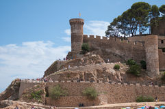 Tossa de mars, côte Brava, Espagne Photo libre de droits