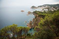 Tossa de mars, côte Brava, Espagne Images stock