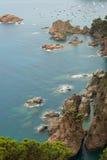 Tossa de mars, côte Brava, Espagne Image libre de droits