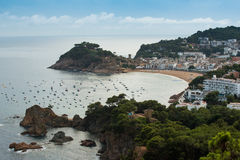 Tossa de mars, côte Brava, Espagne Image stock