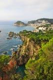 Tossa de mars sur la côte Brava de l'Espagne Image stock