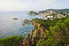 Tossa de mars sur la côte Brava de l'Espagne Photographie stock