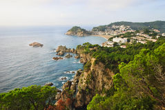 Tossa De Mrz auf Spaniens Costa Brava Stockfotografie