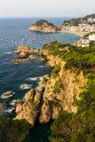 Tossa de Mrz. Costa Brava, España. Imagen de archivo libre de regalías
