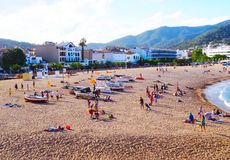 Tossa De Mrz, Katalonien, Spanien Lizenzfreies Stockbild
