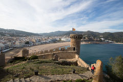 Tossa Del Mar, Girona, Espanha imagens de stock
