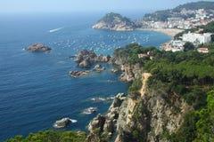 Tossa del Mar panorama Stock Foto