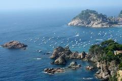 Tossa del Mar panorama Royalty-vrije Stock Fotografie