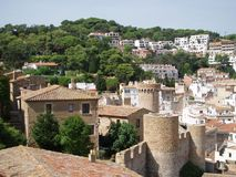 Tossa del Mar, Spain. Town Tossa del Mar in northen Spain, fortress Royalty Free Stock Images