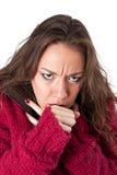Tosse della giovane donna Fotografia Stock Libera da Diritti