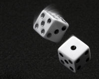 Tossed Dice Royalty Free Stock Images