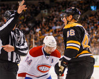 Tossed from the face-off circle Stock Image